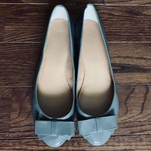 J. Crew Ballet Flats Grey Patent Leather (US 8)